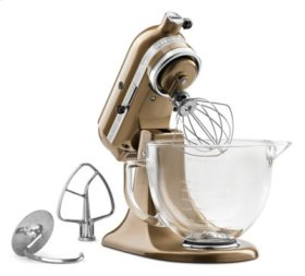 Artisan® Design Series 5 Quart Tilt-Head Stand Mixer with Glass Bowl - Toffee