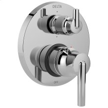Chrome Contemporary Two Handle Monitor ® 14 Series Valve Trim with 6-Setting Integrated Diverter