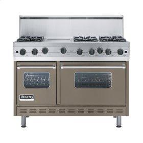 "Stone Gray 48"" Open Burner Range - VGIC (48"" wide, six burners 12"" wide griddle/simmer plate)"