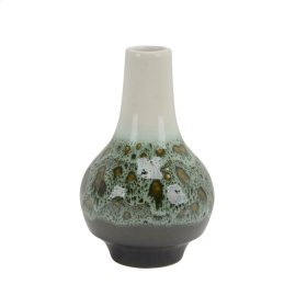 "Ceramic 10"" Bottle Vase, Greenmix"