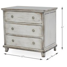 Charming Continent Painted Cabinet