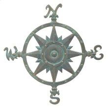 """23"""" Compass Rose Wall Décor - Bronze Verdigris"""