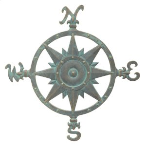 "23"" Compass Rose Wall Décor - Bronze Verdigris Product Image"