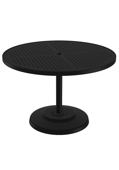 "Boulevard 42"" Round KD Pedestal Dining Umbrella Table"