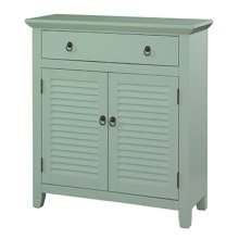 Blue Shutter 1 Drawer 2 Doors Console