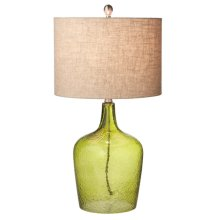 Green Crackle Glass Lamp. 150W Max.