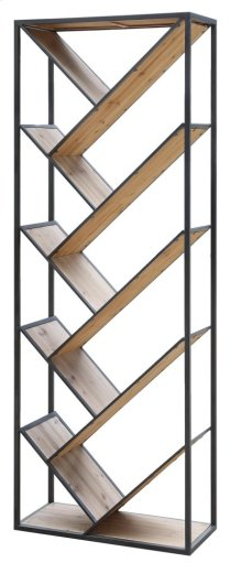 Seville Metal and Wood Angled Etagere