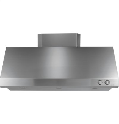 """GE Cafe Series 48"""" Stainless Steel Professional Hood Product Image"""