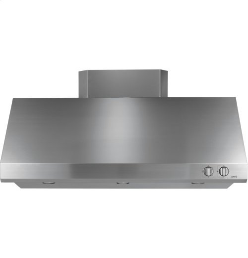 "GE Cafe Series 48"" Stainless Steel Professional Hood"