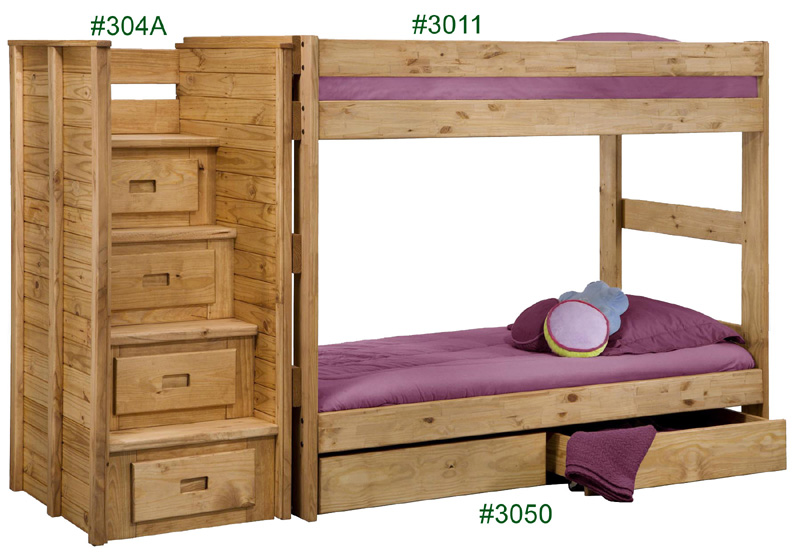... Pine Crafter Furniture 3011. Twin/Twin One Piece Bunk Bed