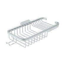 "Wire Basket 10-3/8"", Rectangular Deep & Shallow, With Hook - Polished Chrome"