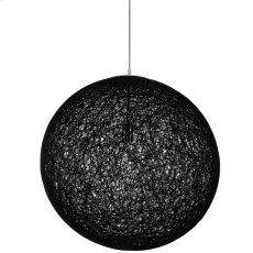 "Spool 24"" Chandelier in Black Product Image"