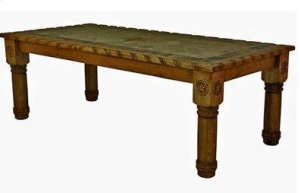 8' Table W/Rope,Stone&Star Medio Finish
