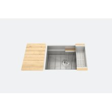 "SmartStation 005408 - undermount stainless steel Kitchen sink , 24"" × 18 1/8"" × 10"" (Maple)"