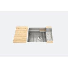 "SmartStation 005408 - undermount stainless steel Kitchen sink , 24"" × 18 1/8"" × 10"" (Maple)"