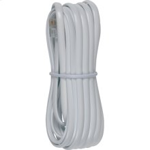 12 foot phone line cords with connectors in white color