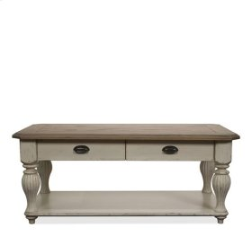 Coventry Rectangular Coffee Table Weathered Driftwood/Dover White finish