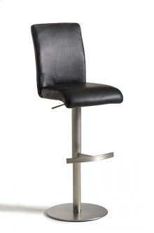 Modrest T-1206 Modern Black Eco-Leather Bar Stool