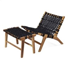 Phillips Woven Teak Chair with Ottoman - Set of 2