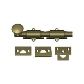 """6"""" Surface Bolt, HD - Antique Brass"""