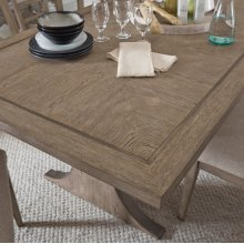 Academy Rectangular Pillar Base Dining Table Top