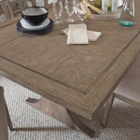 Academy Rectangular Pillar Base Dining Table Top