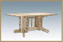 Montana Log Double Pedestal Table