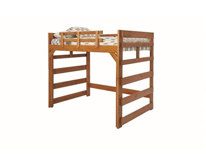 Heartland Full Loft Bed With Options Honey Pine No Ladder