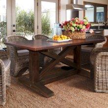 """144"""" Antique Copper Copper Trestle Table"""
