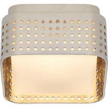Visual Comfort KW4055PN-CDG Kelly Wearstler Precision LED 5 inch Polished Nickel Flush Mount Ceiling Light, Petite