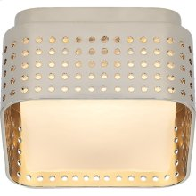 Visual Comfort KW4055PN-CDG Kelly Wearstler Precision LED 5 inch Polished Nickel Flush Mount Ceiling Light, Petite