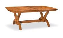 "Adeline Trestle Table,, Adeline Trestle Table, 42""x72"", 1-32"" Stationary Butterfly Leaf"