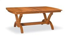 "Adeline Trestle Table,, Adeline Trestle Table, 42""x72"", 1-32"" Stationary Butterfly Leaf"