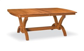 "Adeline Trestle Table,, Adeline Trestle Table, 48""x72"", 1-32"" Stationary Butterfly Leaf"