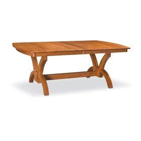 "Adeline Trestle Table,, Adeline Trestle Table, 48""x96"", 1-32"" Stationary Butterfly Leaf"