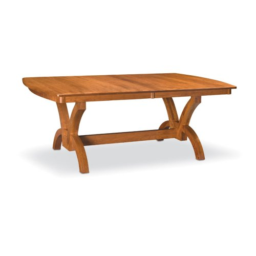 "Adeline Trestle Table,, Adeline Trestle Table, 42""x80"", 1-32"" Stationary Butterfly Leaf"