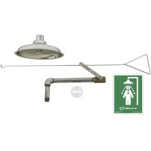 Concealed Safety Drench Shower with Stainless Steel Pull Rod