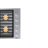 """Dacor Modernist 36"""" Gas Cooktop, Graphite Stainless Steel, Natural Gas"""