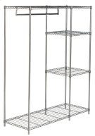 Betsy Chrome Wire Adjustable Garment Rack - Chrome Product Image