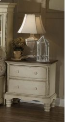 Wilshire Nightstand Antique White Product Image