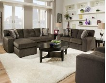 Hematite Gray Sofa Chaise Ottoman