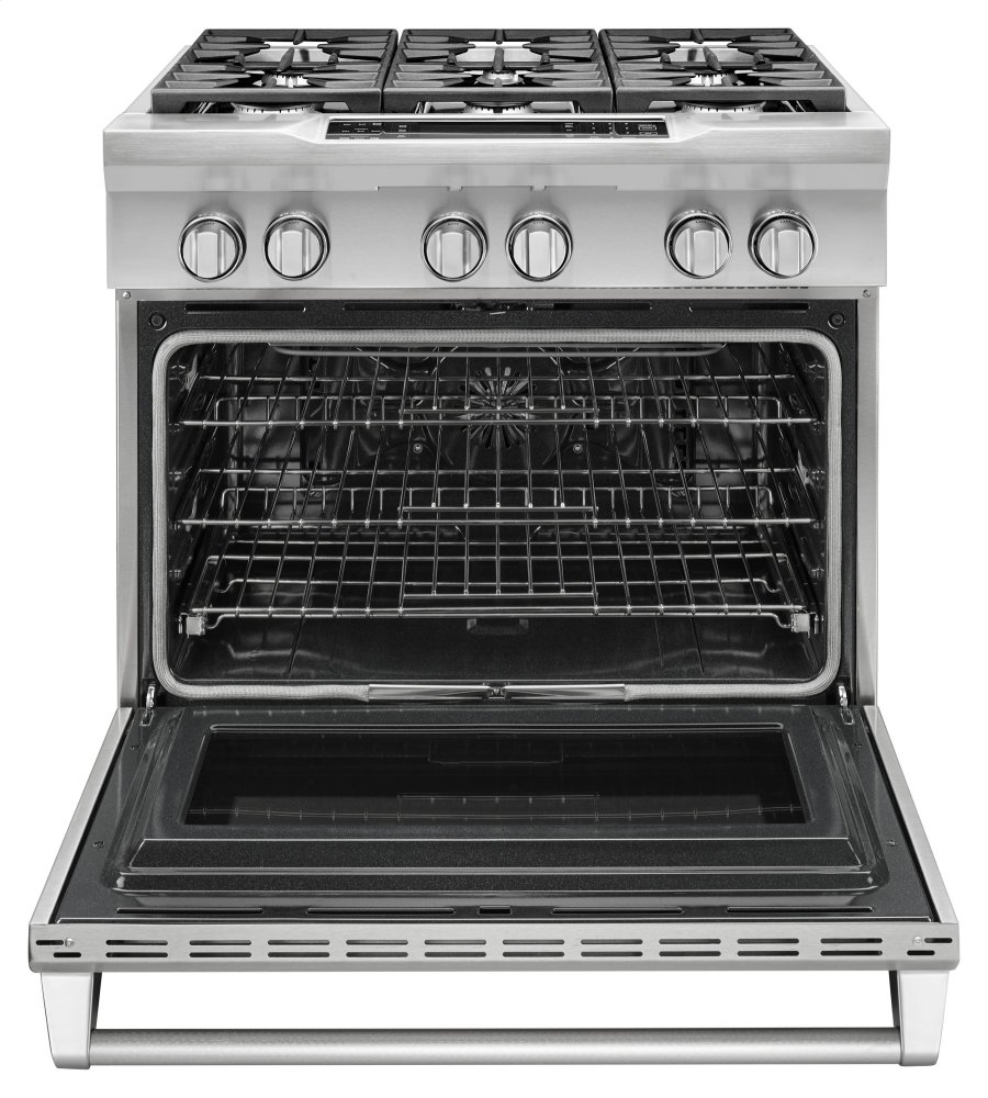 Kdrs467vss Kitchenaid 36 6 Burner Dual Fuel Freestanding Range