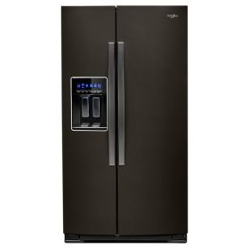 Whirlpool® 36-inch Wide Counter Depth Side-by-Side Refrigerator - 21 cu. ft. - Black Stainless