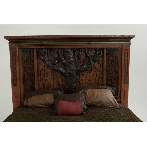 Glacier Bay - English Oak Bed - Queen Bed (complete)