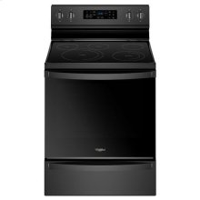 Whirlpool® 6.4 Cu. Ft. Freestanding Electric Range with Frozen Bake Technology - Black