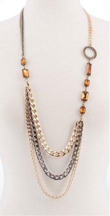 BTQ Multi-Metal Long Necklace