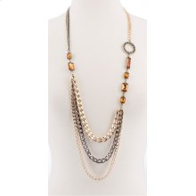 BTQ Multi-Metal Long Necklace