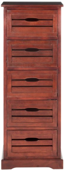 Sarina 5 Drawer Cabinet - Cherry