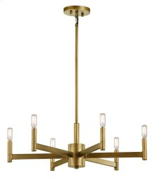 Erzo 6 Light Chandelier Natural Brass
