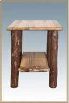 Glacier Country Log Nightstand with Shelf Product Image